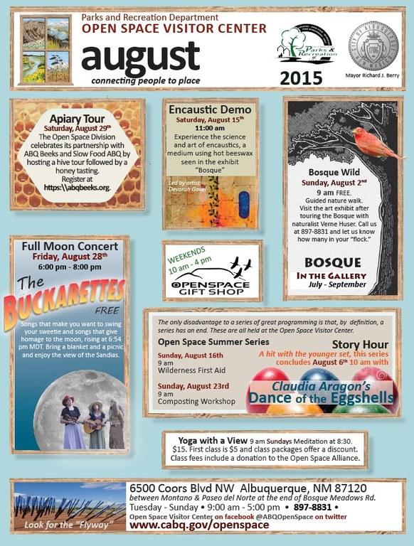 OSVC August 2015 Calendar