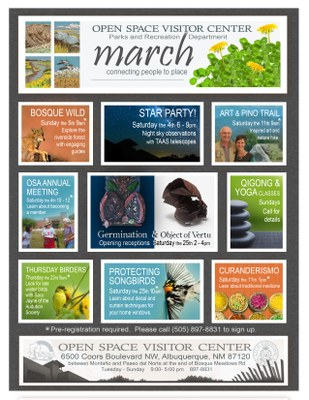 Open Space Visitor Center March 2017 Calendar of Events
