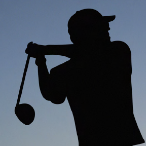 Silhouette of a Golfer for Longest Drive Championship