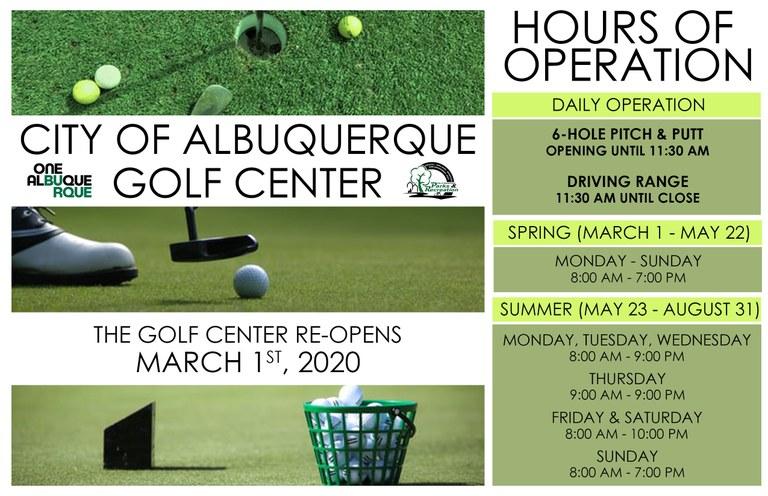 Golf Center Spring 2020 Opening