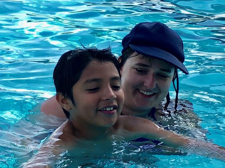 Horizons Swimming lesson - Jordan and Bruno