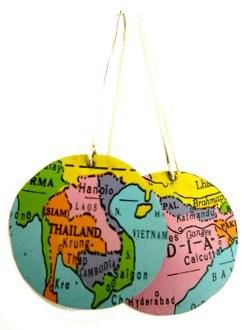 Recycled Globe Earrings