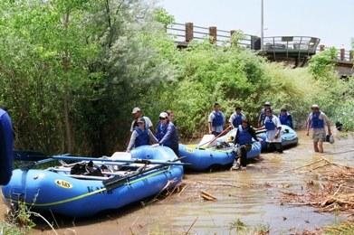 Raft Entering Rio Grande