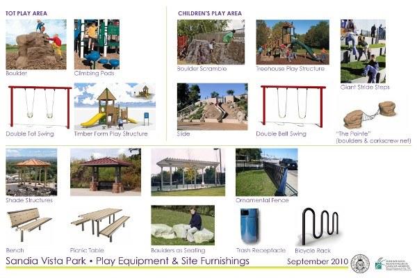 Sandia Vista Park Furnishings