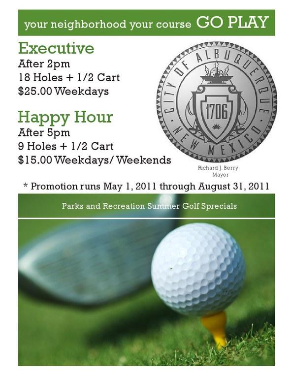 summer golf specials 2011
