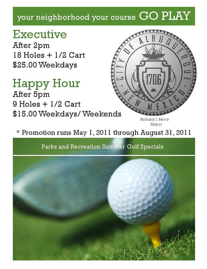 Summer Golf Specials Flier