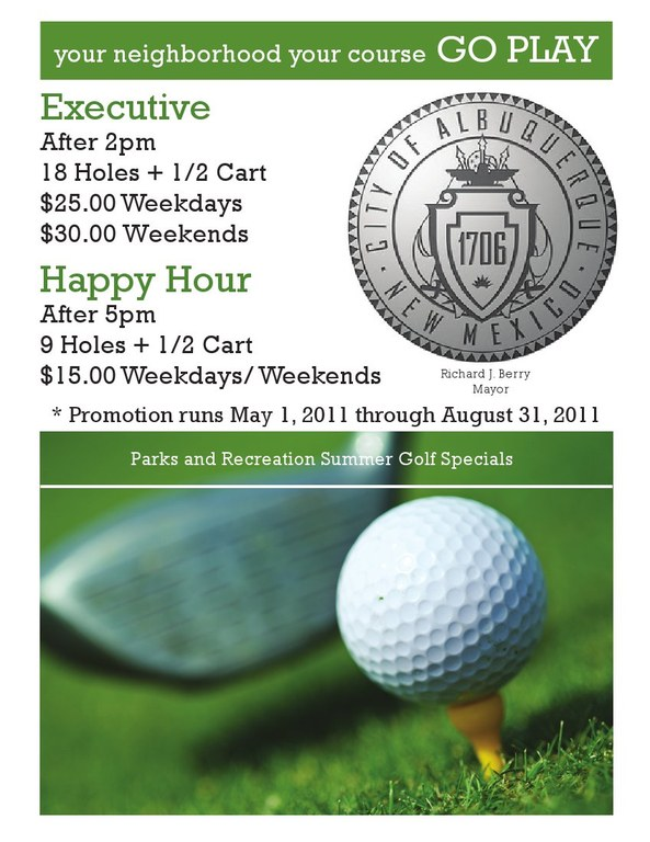 updated summer golf specials