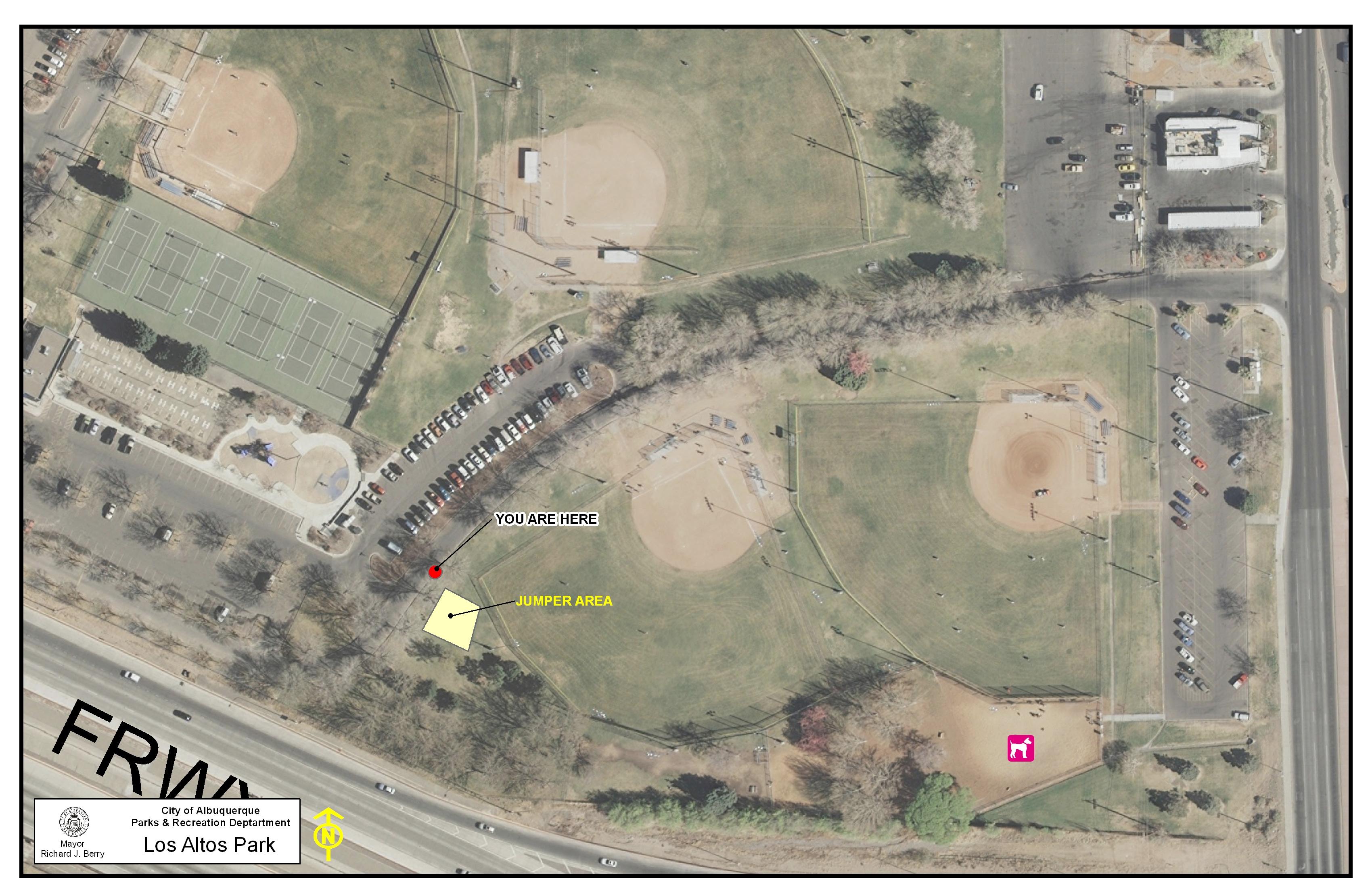Los Altos Park Jumper Map