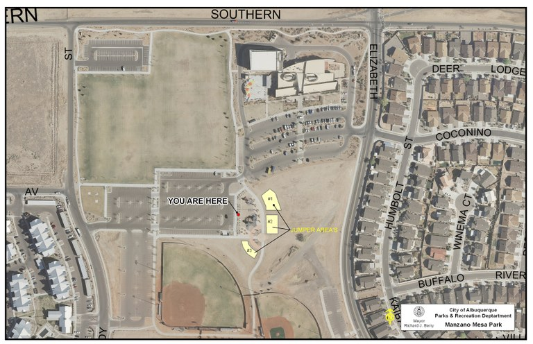 Manzano Mesa Park Jumper Map