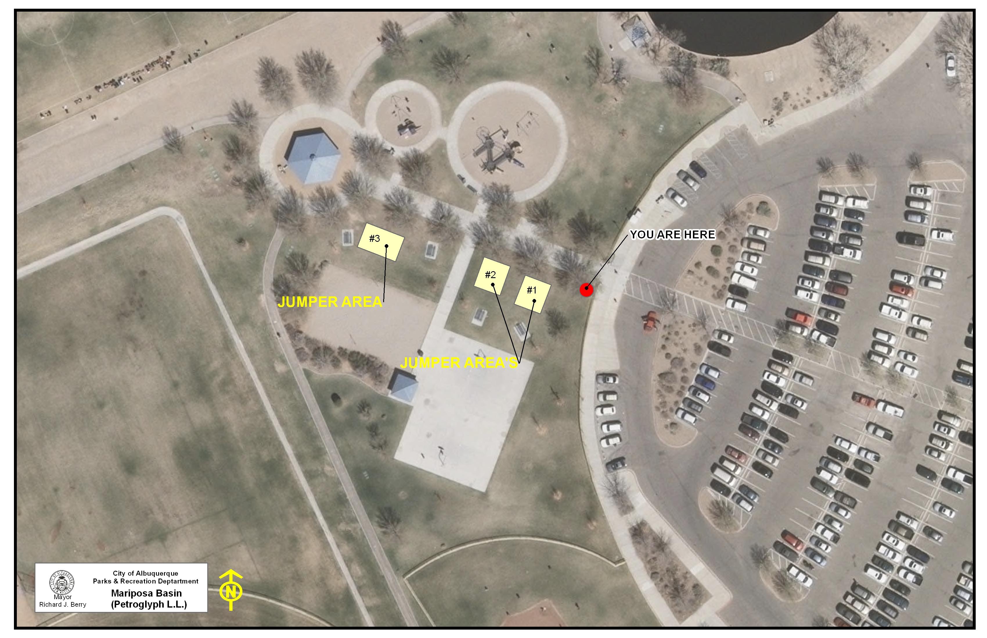 Mariposa Basin Park Jumper Map