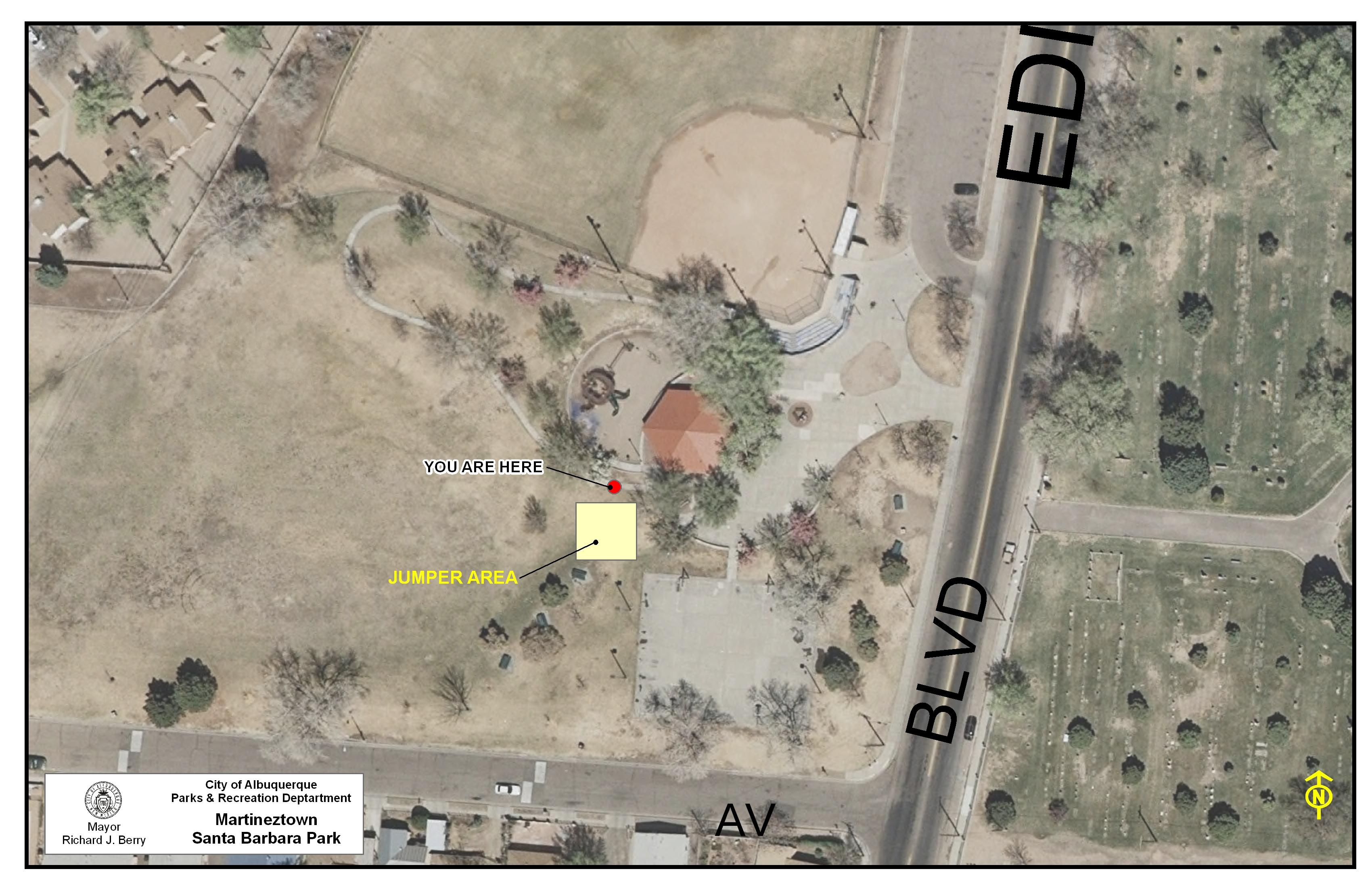 Martineztown - Santa Barbara Park Jumper Map