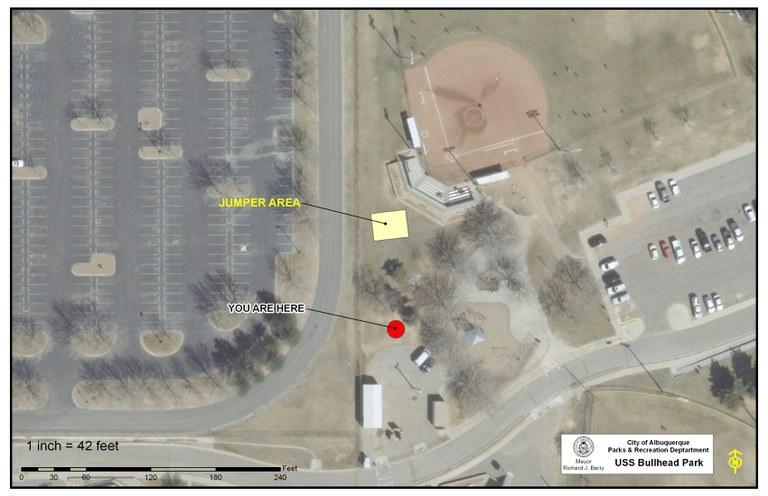 USS Bullhead Memorial Park Jumper Map