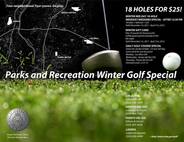 Winter Golf Specials (2011-2012)