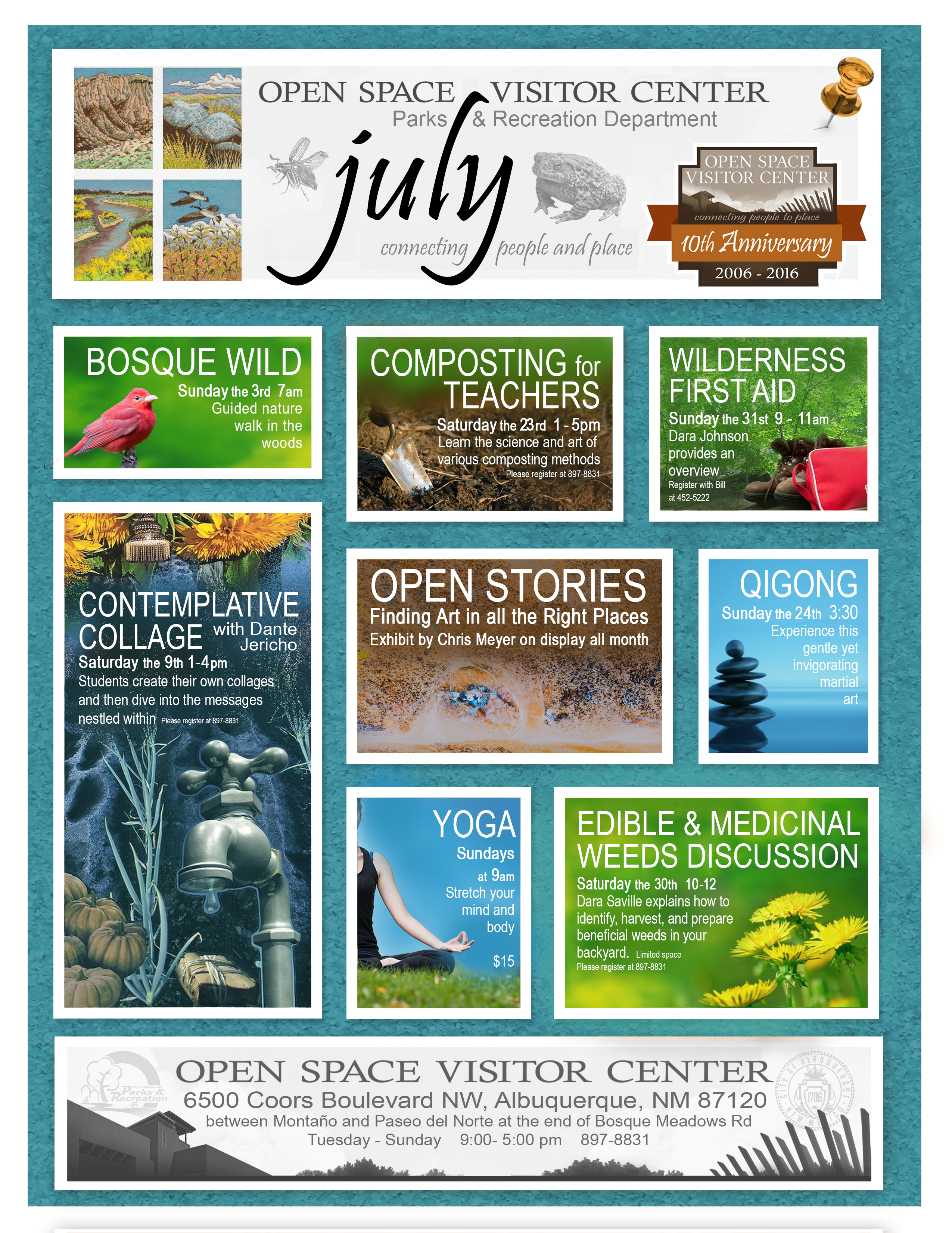 July Open Space Visitor Center 2016