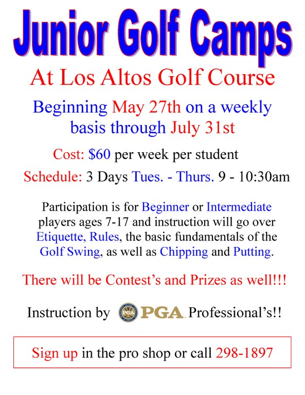 Los Altos Golf Camp May 2014