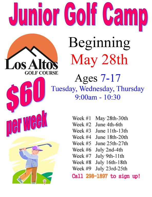 Los Altos 2019 Junior Golf Camp Schedule
