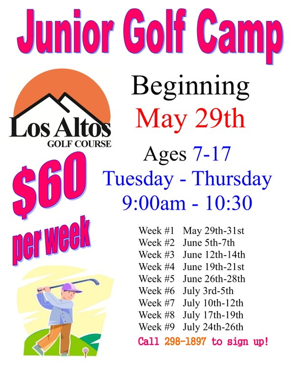 2018 Los Altos Youth Golf Camp Information