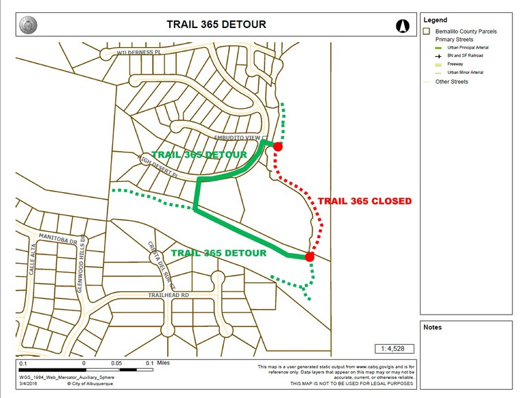 Trail Reroute Map