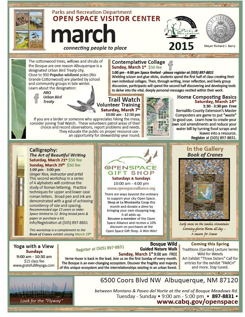 OSVC Calendar March 2015