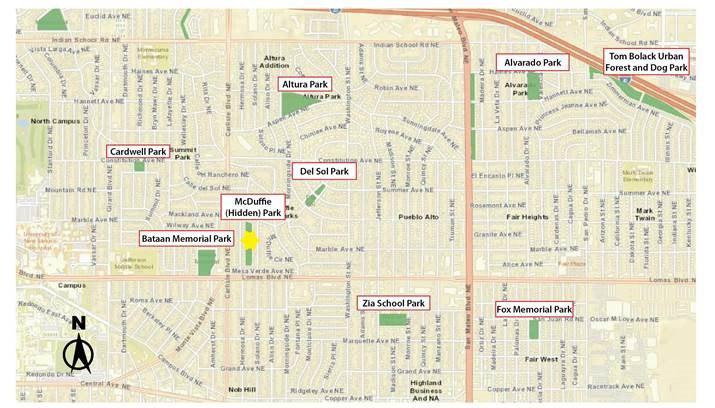 Map of McDuffie (Hidden) Park