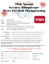 Mens City Championship Entry Form 2014