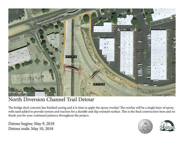 North Diversion Channel Bridge Renovation Detour Update