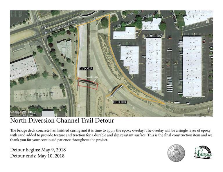 North Diversion Channel Bridge Renovation Detour Update