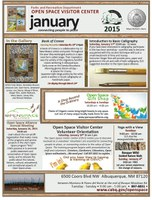 caption:Visitor Center Calendar for January 2015