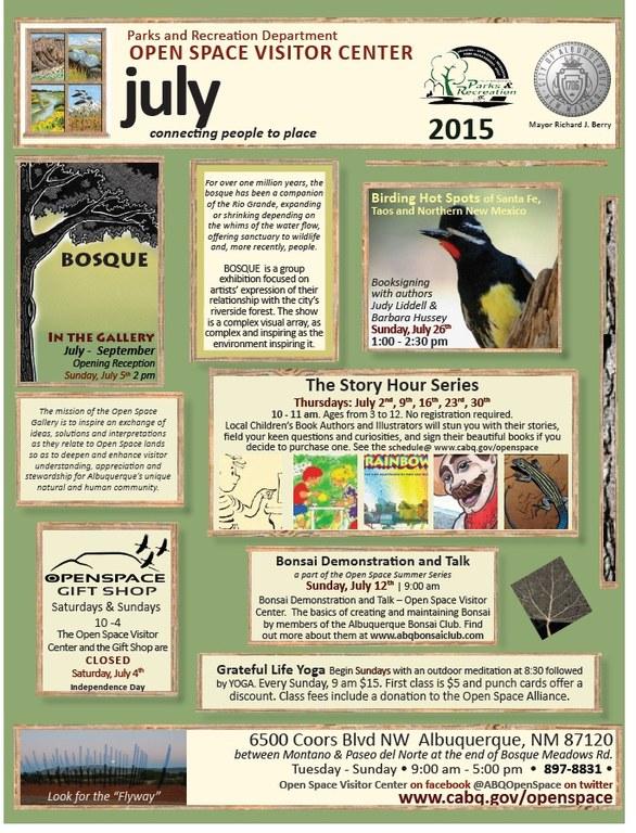 OSVC July 2015 Calendar