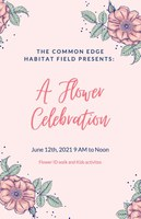 image of flyer for Flower Celebration