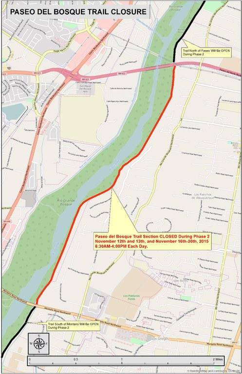 Paseo del Bosque Trail Closure 2015 Map 2