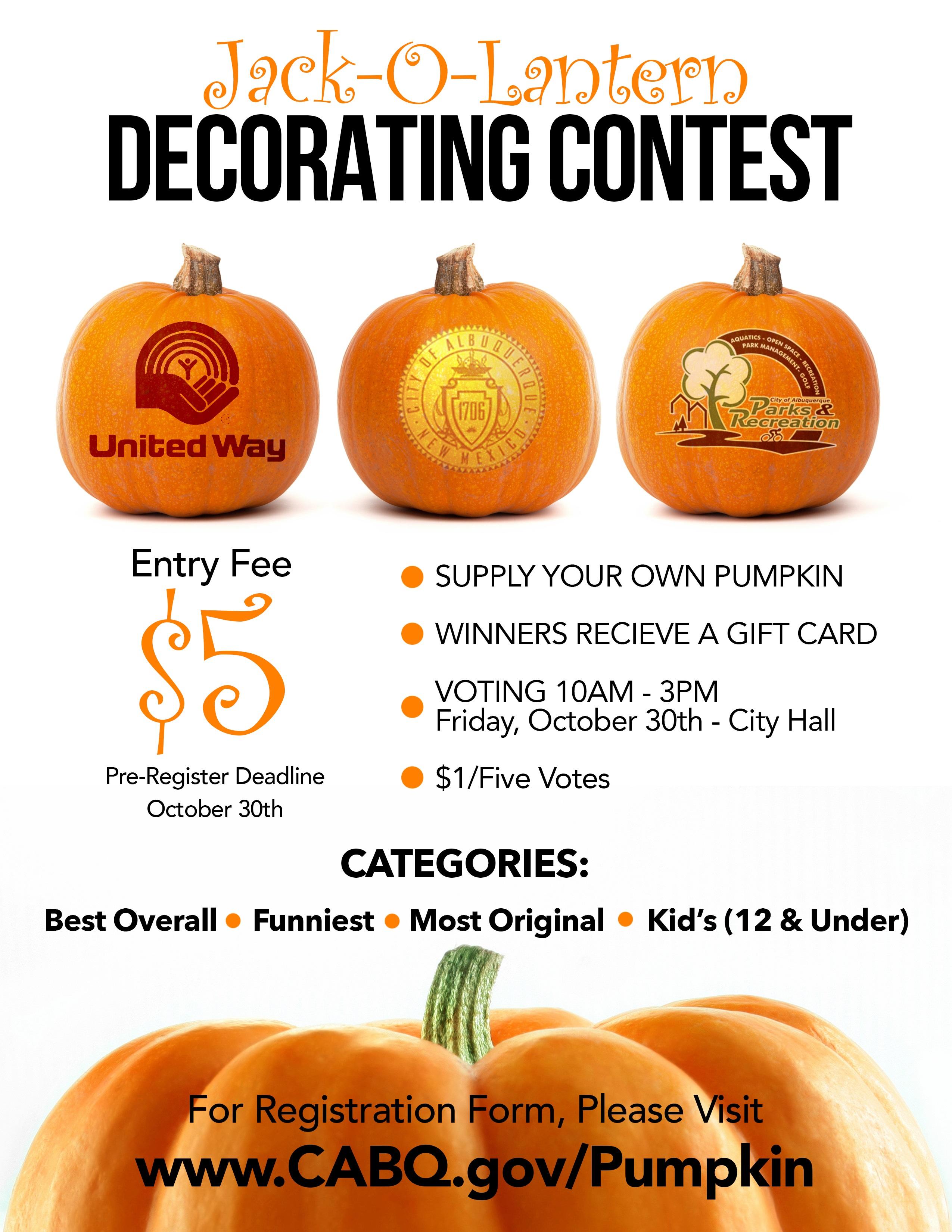 jack o lantern contest