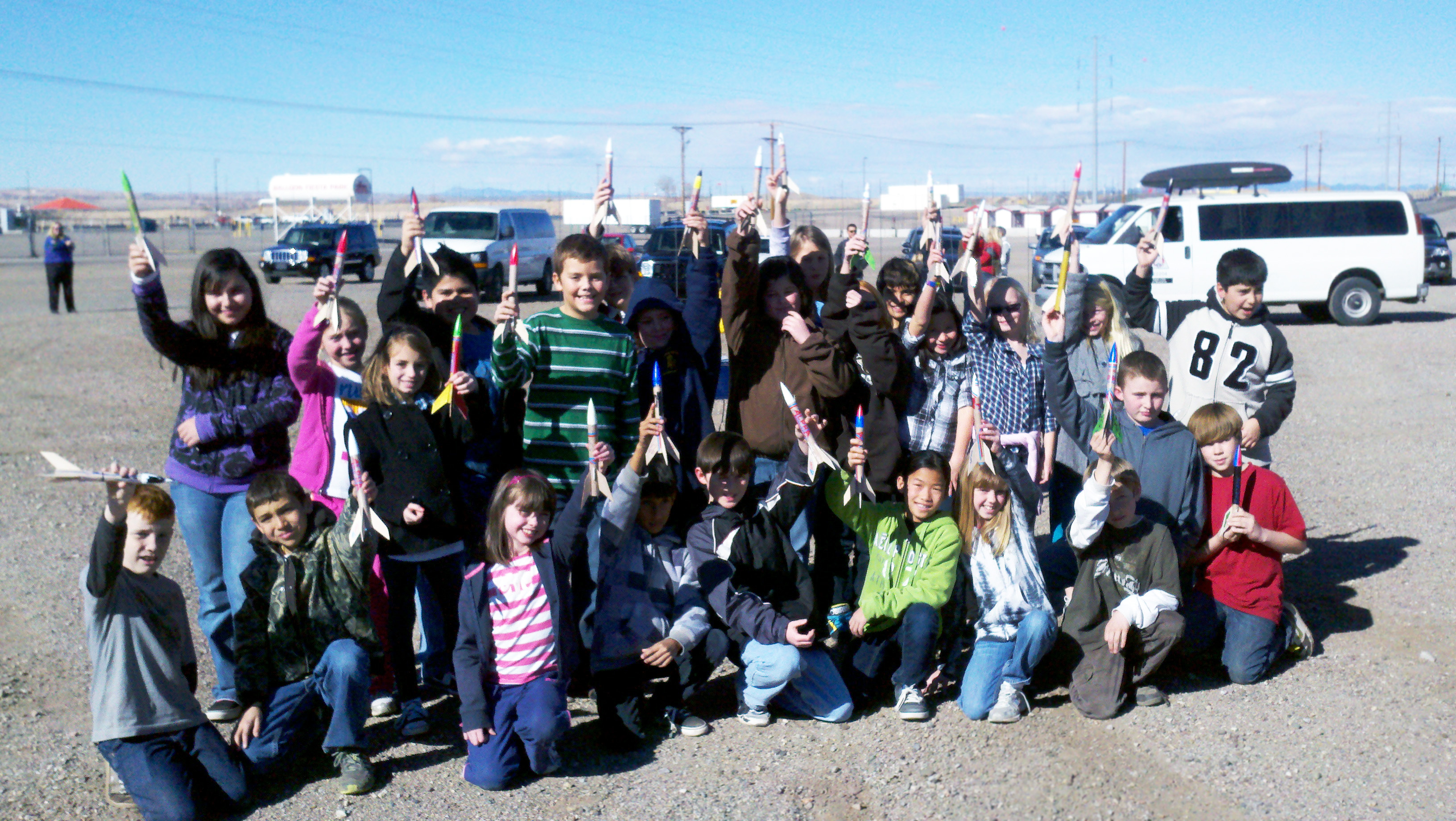 Youth Building Rockets