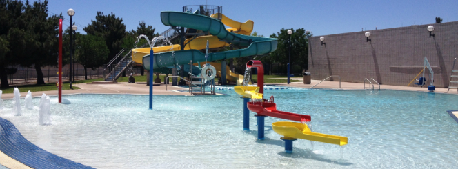Outdoor Pool Slide