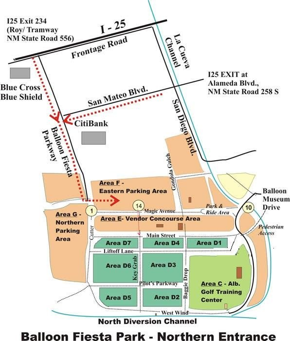 Balloon Fiesta Park Vicinity Map