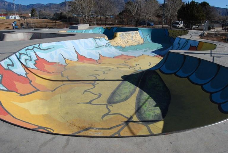 Los Altos Skate Park Painted Bowl