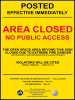City of Albuquerque to Close East Mountain Open Space Properties Due to Fire Danger