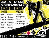 Parks & Recreation, NMX Sports Offering Youth Ski and Snowboard Lessons
