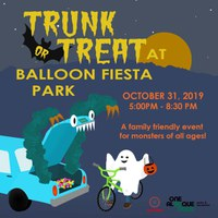 Parks & Recreation Seeking Businesses, Community Groups to Participate in First Ever Trunk or Treat at Balloon Fiesta Park