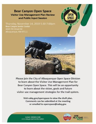 Public meeting for Bear Canyon Visitor Use Plan