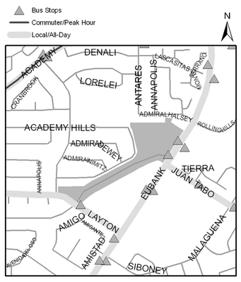 Map of Academy Hills Park
