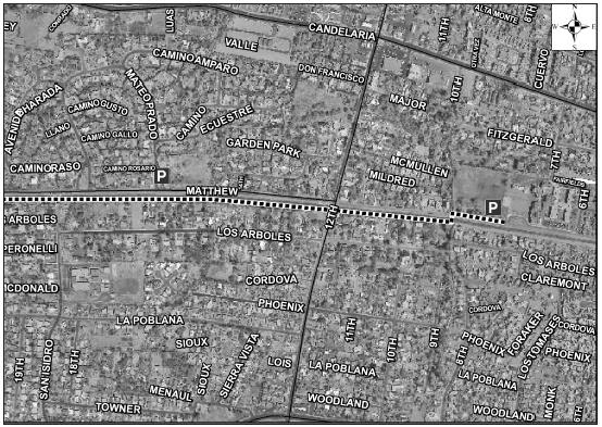 Alameda Drain Trail Satellite Image