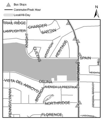 Map of Arroyo del Oso Park