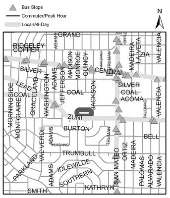 Map of Highland High School Track