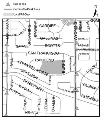 Map of Loma del Norte Park