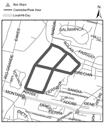 Map of Los Poblanos Open Space