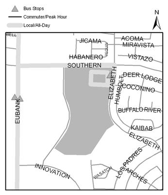 Map of Manzano Mesa Multigenerational Center