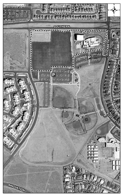 Manzano Mesa Multigenerational Center Satellite Image