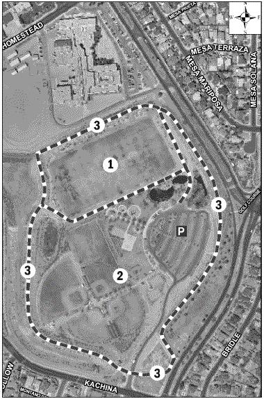 Mariposa Basin Park Satellite Image