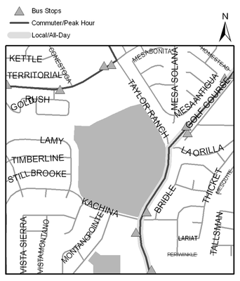 Map of Mariposa Basin Park